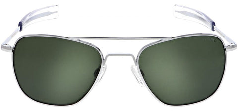 Randolph Aviator AF079 Bright Chrome / AGX size 55mm Polarized: Featured Product Image