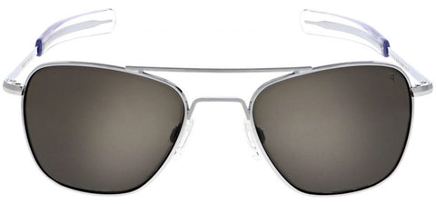 Randolph Aviator AF139 Matte Chrome / American Gray size 58mm Polarized: Featured Product Image