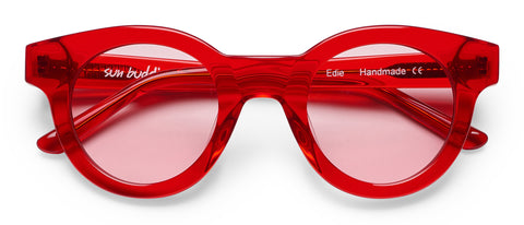 Edie Transparent Red: Featured Product Image
