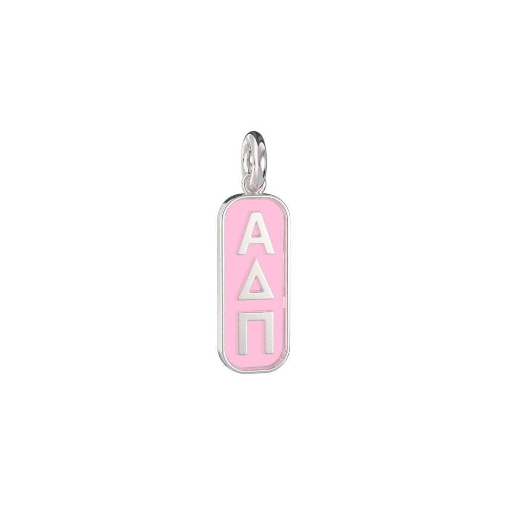 Alpha Delta Pi Enameled Mini Tag Charm