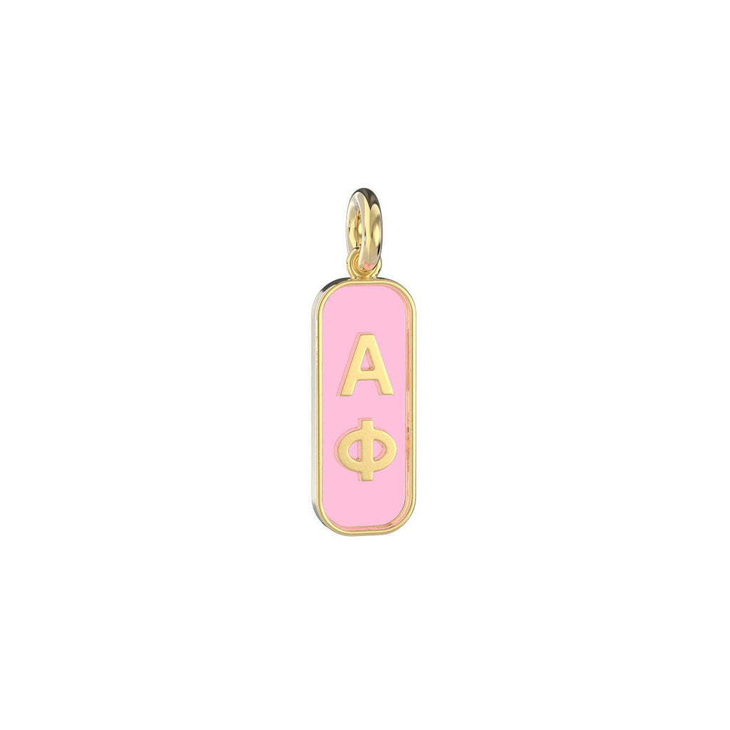 Alpha Phi Enameled Mini Tag Charm