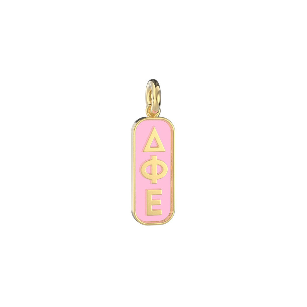 Delta Phi Epsilon Enameled Mini Tag Charm