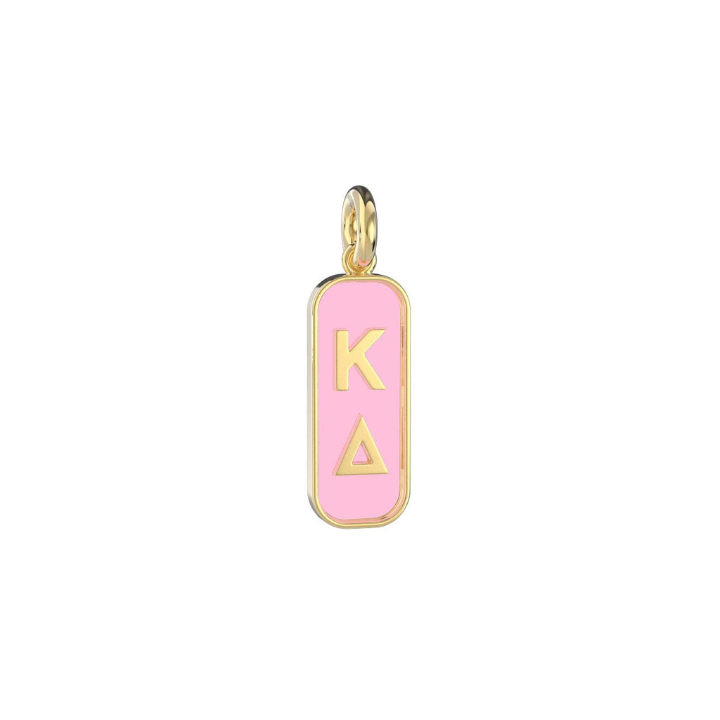 Kappa Delta Enameled Mini Tag Charm