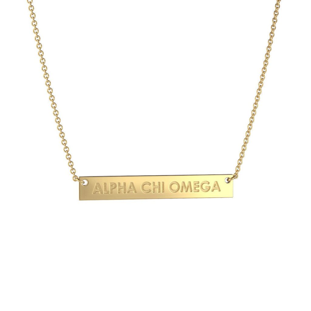 Alpha Chi Omega Bar Necklace Nava New York