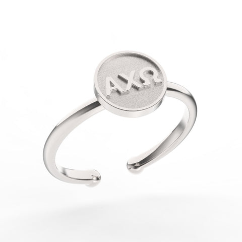 Alpha Chi Omega Disc Ring