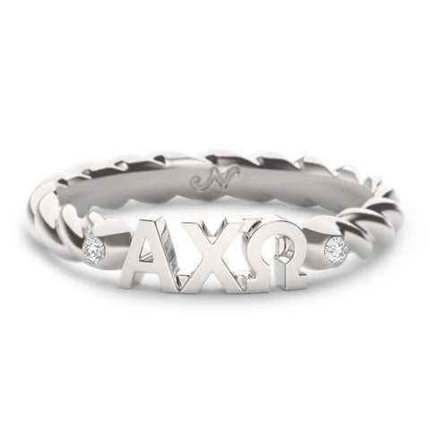 Alpha Chi Omega Twist Ring