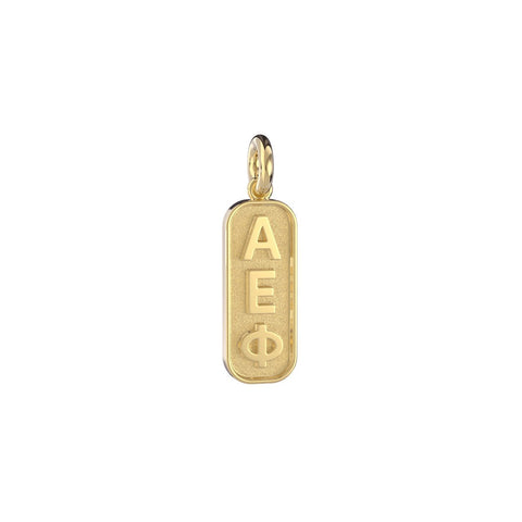 Alpha Epsilon Phi Mini Tag Charm