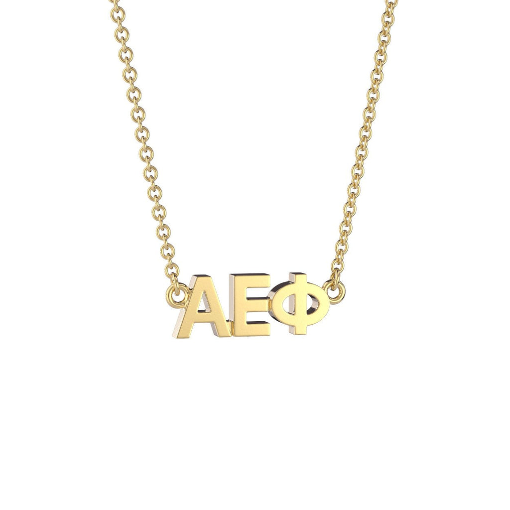 Alpha Epsilon Phi Signature Lavalier Necklace