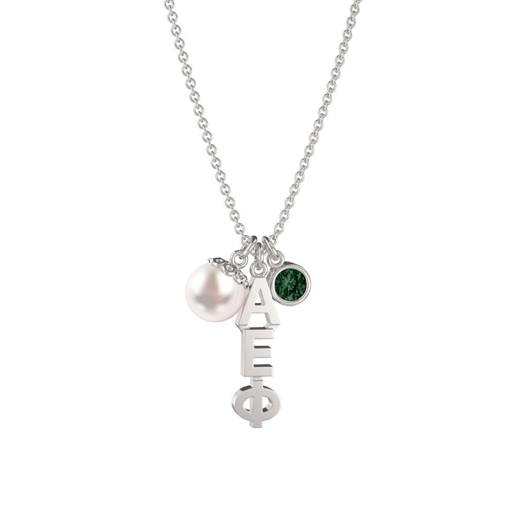 Alpha Epsilon Phi Triple Charm Necklace