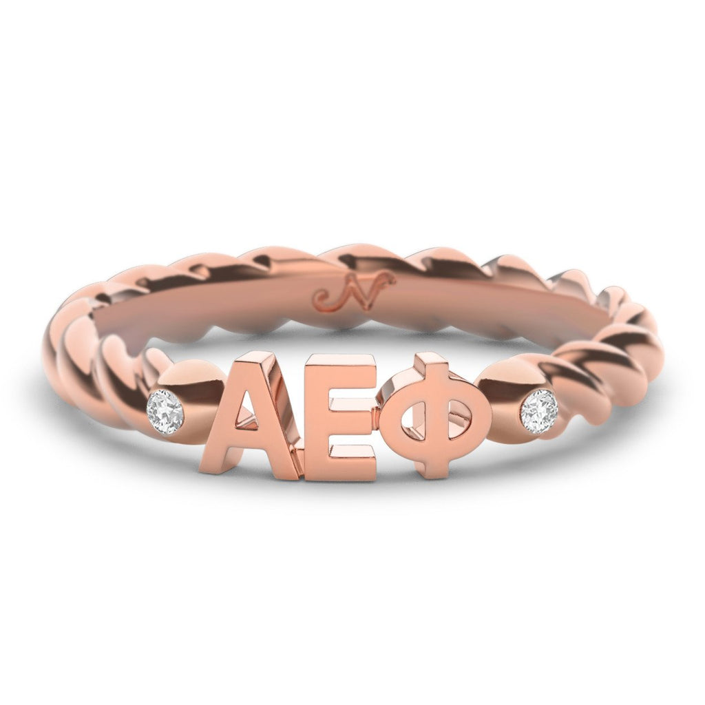 Alpha Epsilon Phi Twist Ring