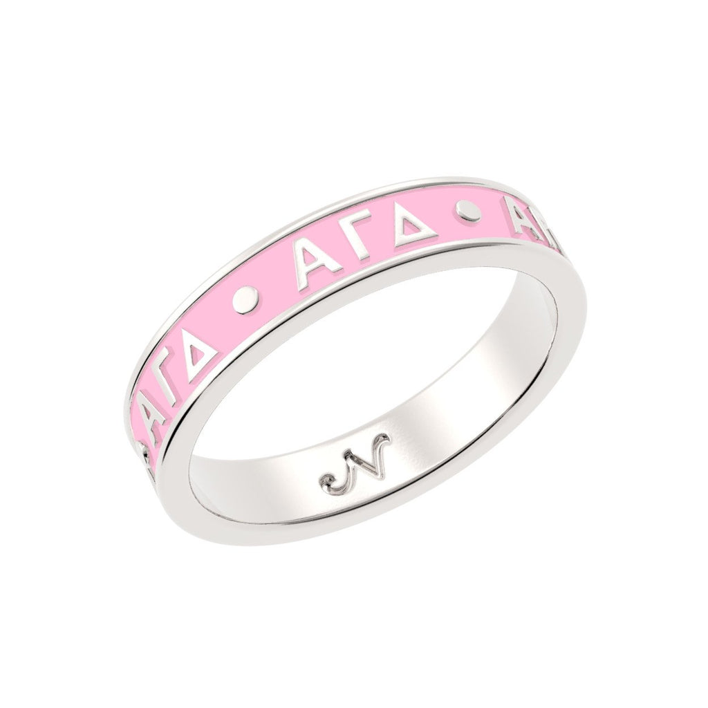 Alpha Gamma Delta Enameled Letter Band