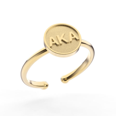 Alpha Kappa Alpha Disc Ring