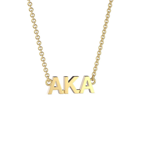 Alpha Kappa Alpha Signature Lavalier Necklace