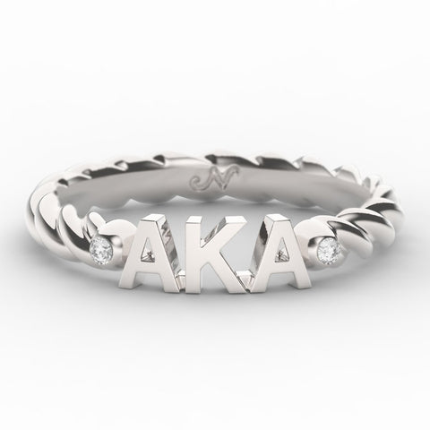 Alpha Kappa Alpha Twist Ring