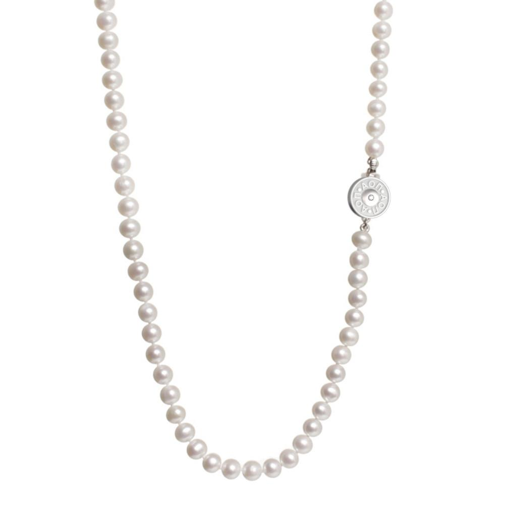 Alpha Omicron Pi Pearl Necklace