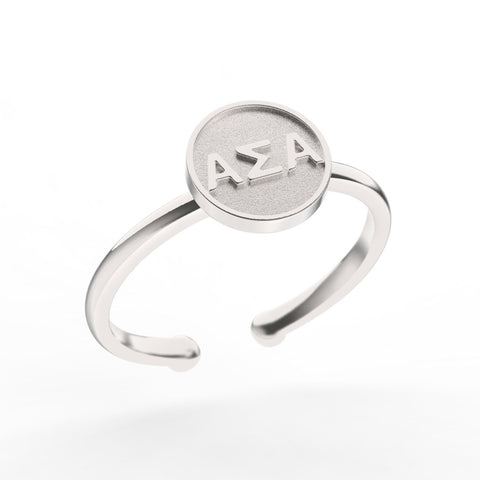 Alpha Sigma Alpha Disc Ring