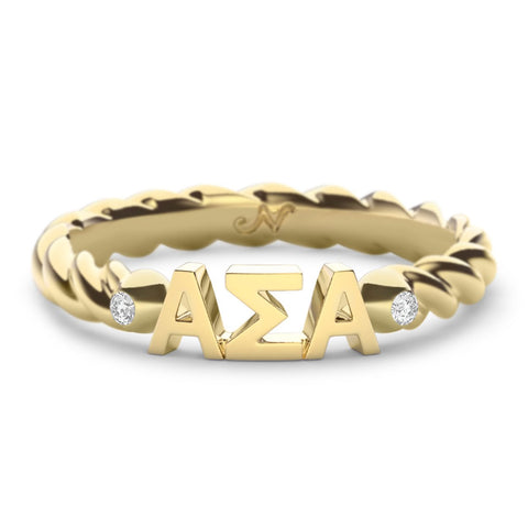 Alpha Sigma Alpha Twist Ring
