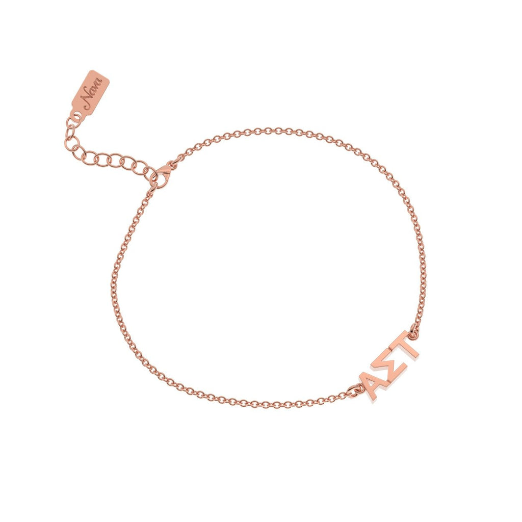 Alpha Sigma Tau Signature Bracelet Nava New York