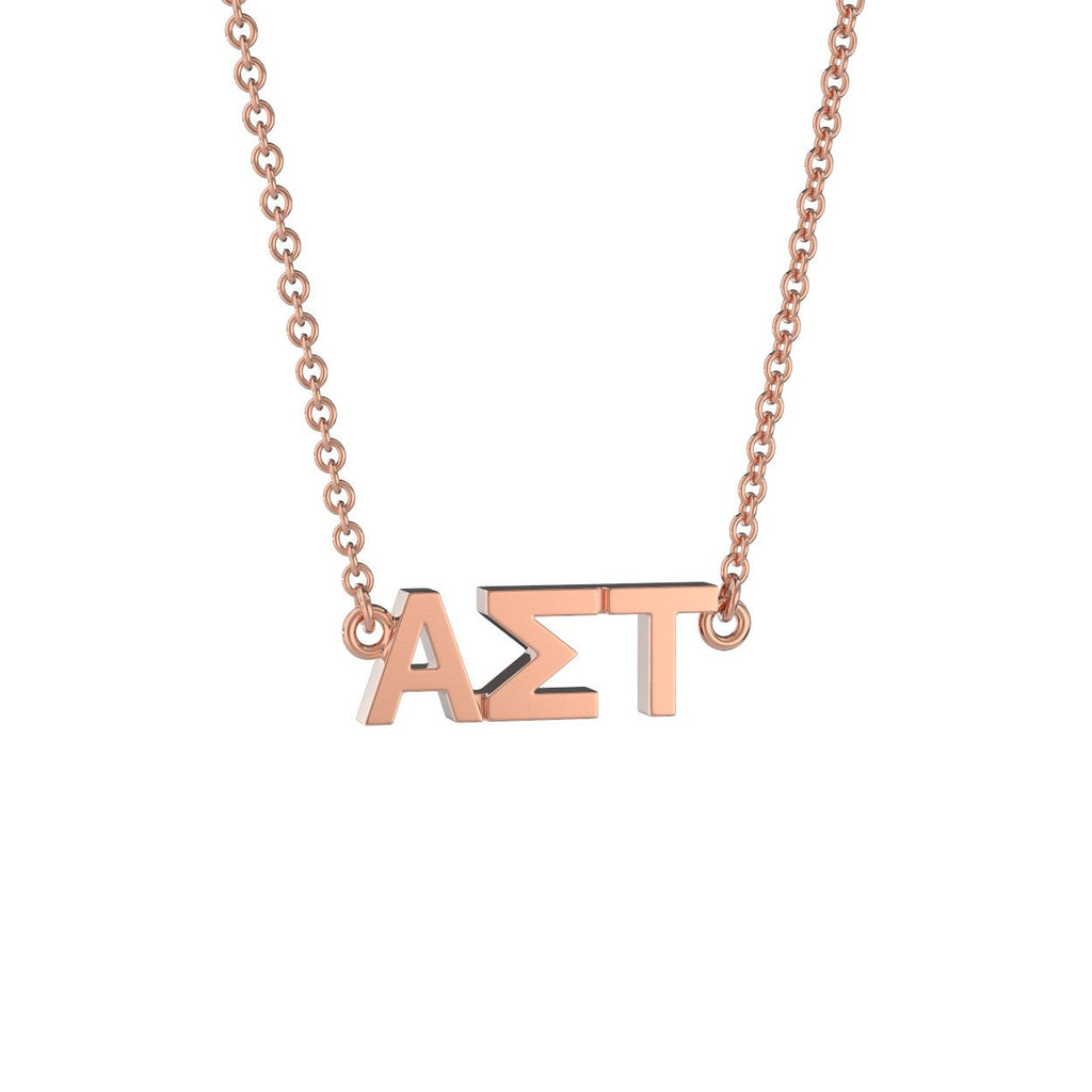 Alpha Sigma Tau Signature Lavalier Necklace Nava New York