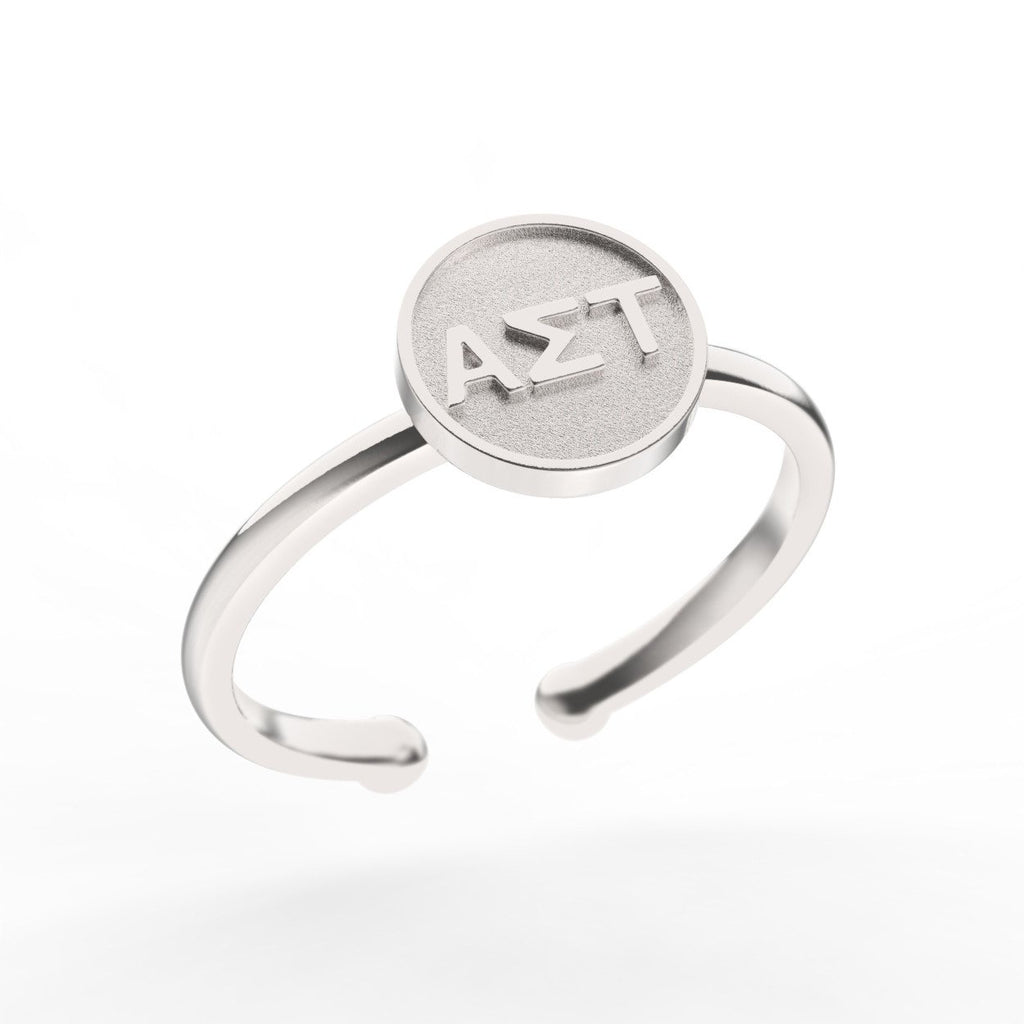 Alpha Sigma Tau Disc Ring