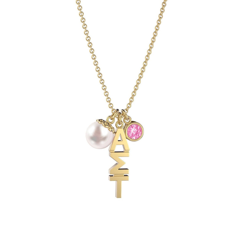 Alpha Sigma Tau Triple Charm Necklace Nava New York