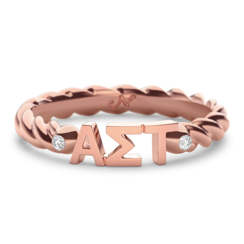 Alpha Sigma Tau Twist Ring Nava New York