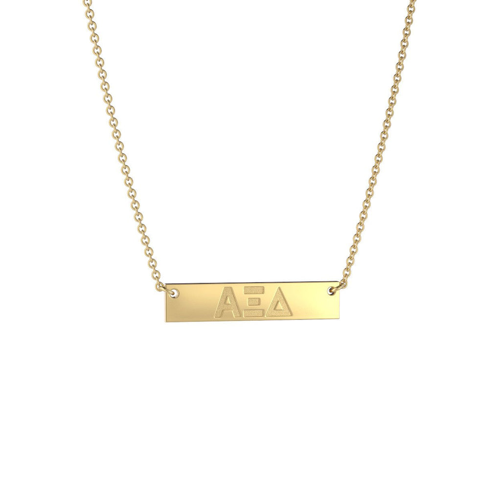 Alpha Xi Delta Petite Bar Necklace
