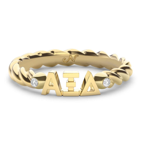 Alpha Xi Delta Twist Ring
