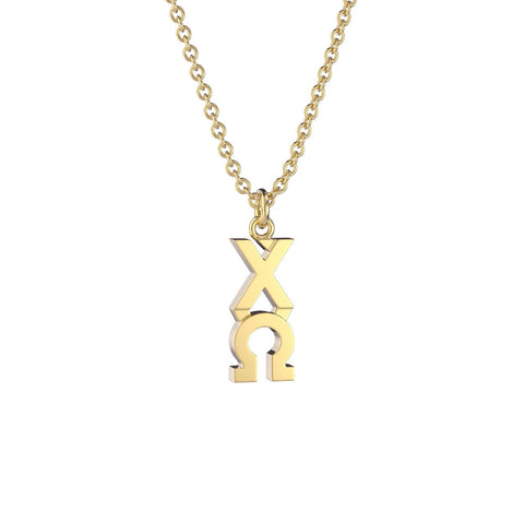 Chi Omega Classic Lavalier Necklace