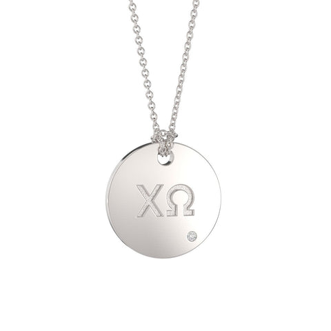 Chi Omega Coin Pendant Necklace