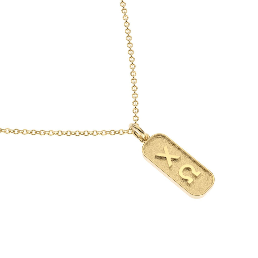 Chi Omega Mini Tag Necklace