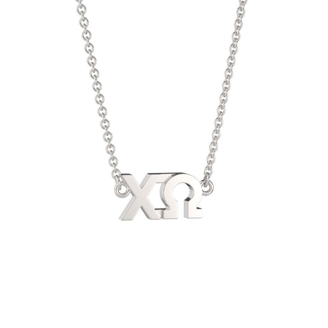 Chi Omega Signature Lavalier Necklace