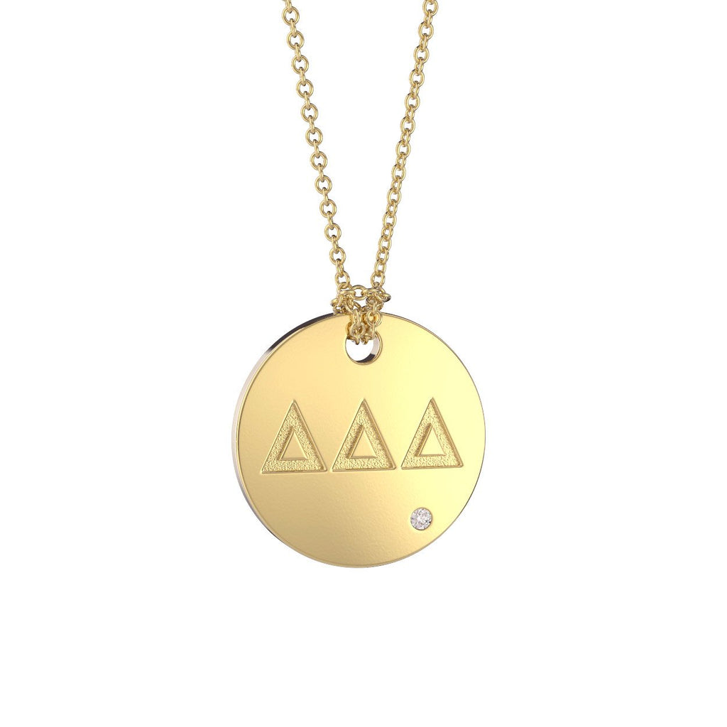 Delta Delta Delta Coin Pendant Necklace