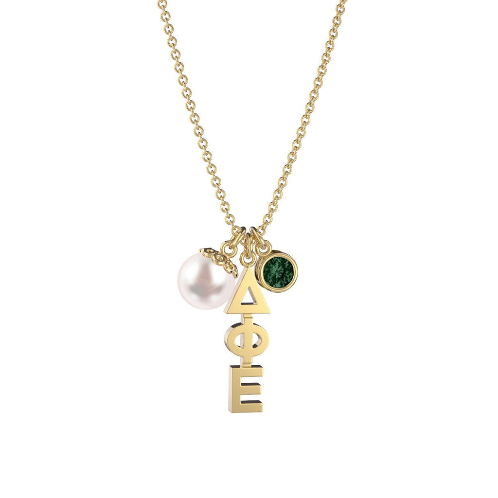 Delta Phi Epsilon Triple Charm Necklace