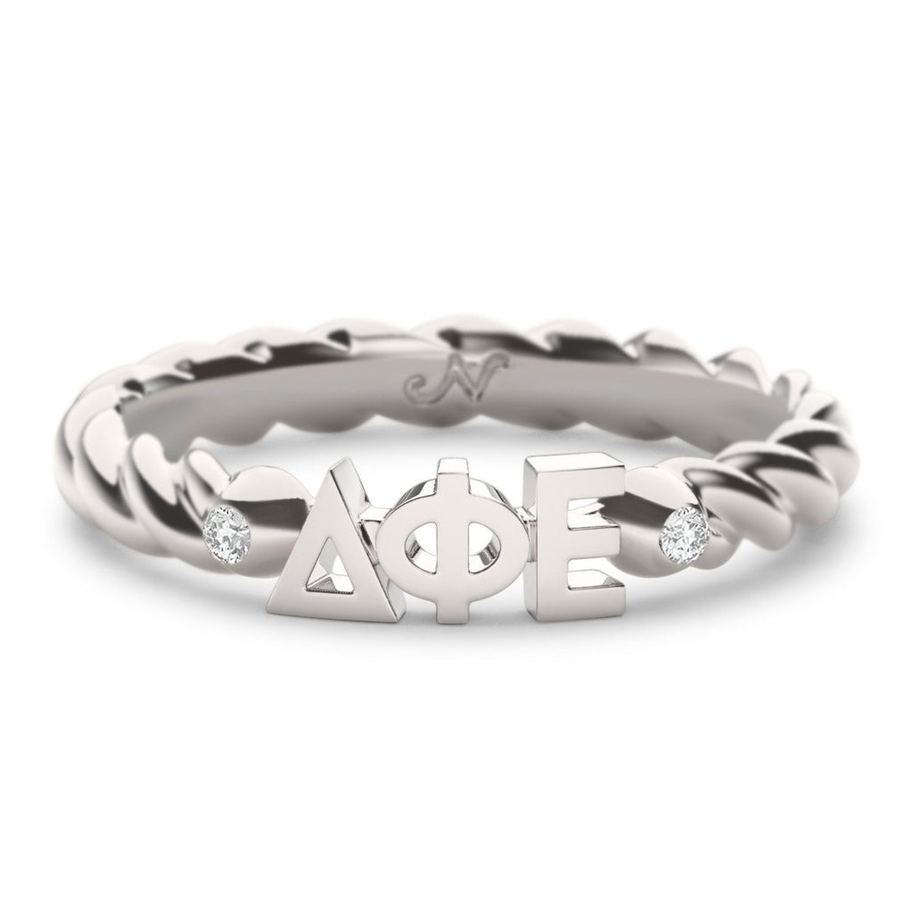 Delta Phi Epsilon Twist Ring