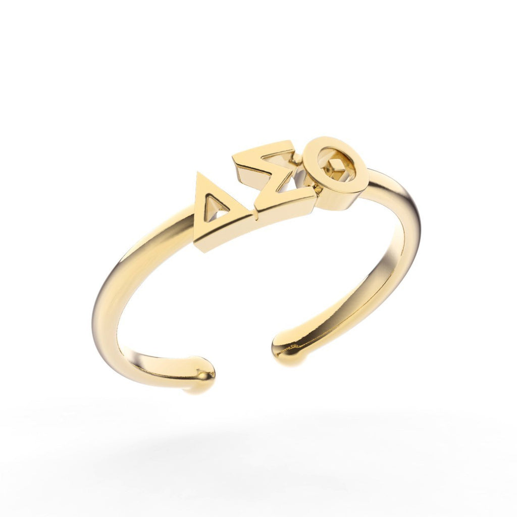 Delta Sigma Theta Thin Band Letter Ring