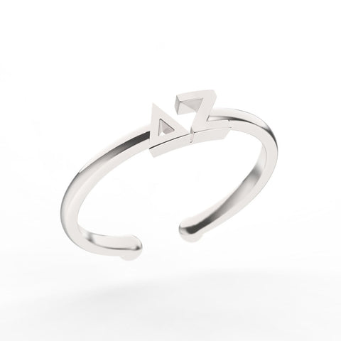 Delta Zeta Thin Band Letter Ring