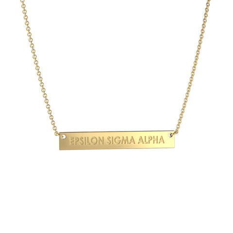 Epsilon Sigma Alpha Bar Necklace