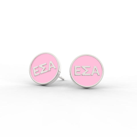 Epsilon Sigma Alpha Enameled Disc Studs