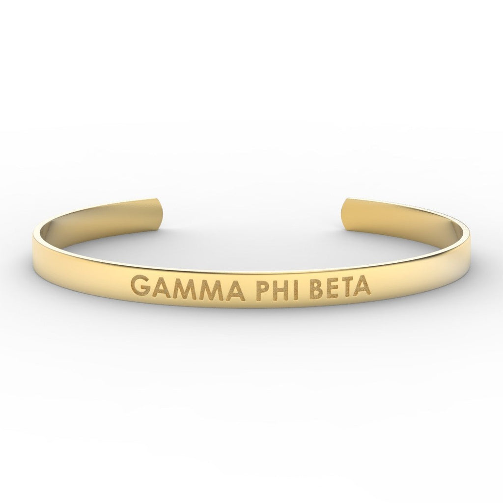 Gamma Phi Beta Sorority Cuff