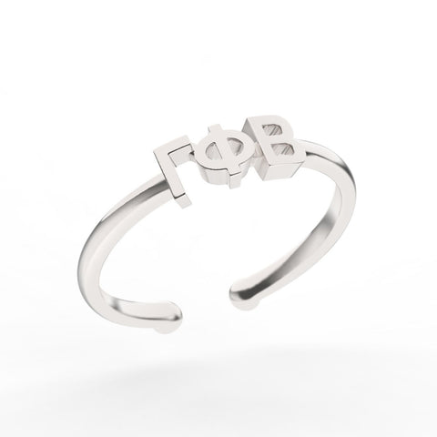 Gamma Phi Beta Thin Band Letter Ring
