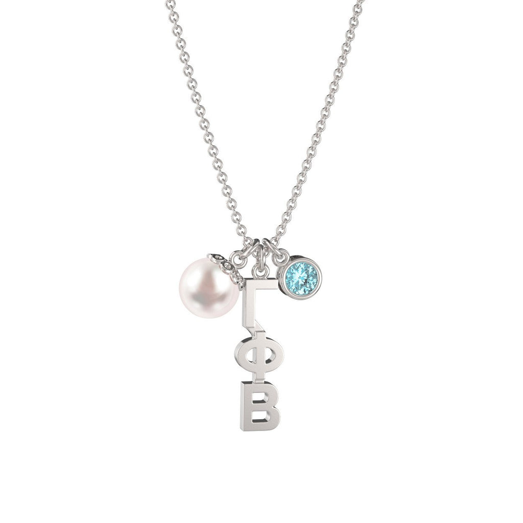 Gamma Phi Beta Triple Charm Necklace