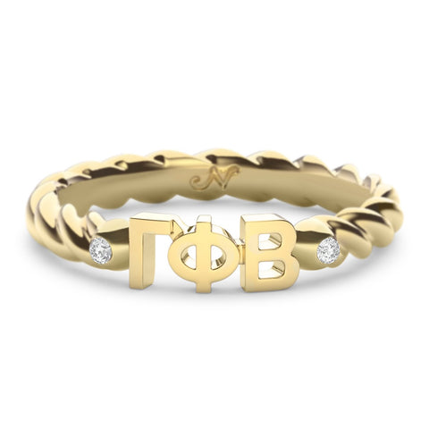 Gamma Phi Beta Twist Ring