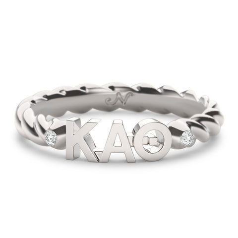 Kappa Alpha Theta Twist Ring