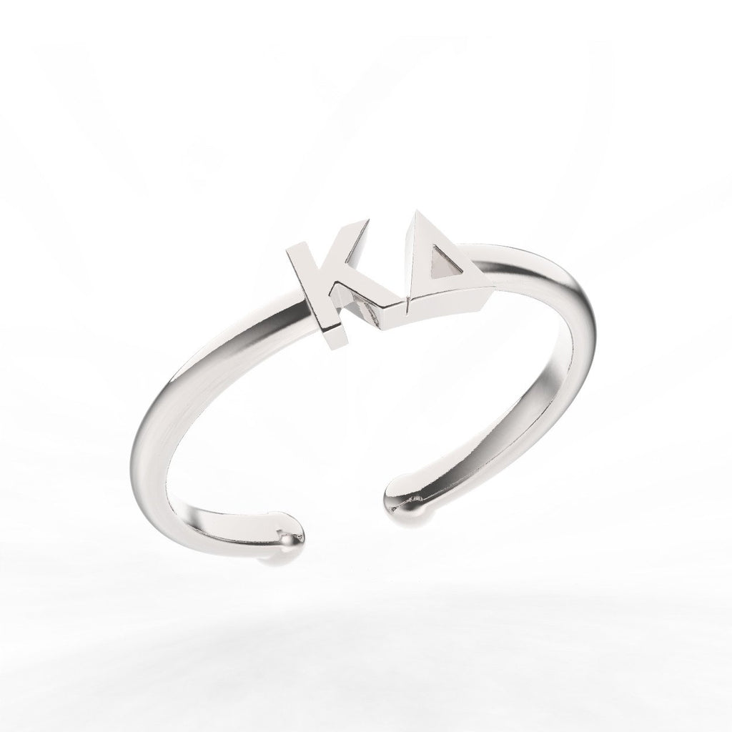 Kappa Delta Thin Band Letter Ring