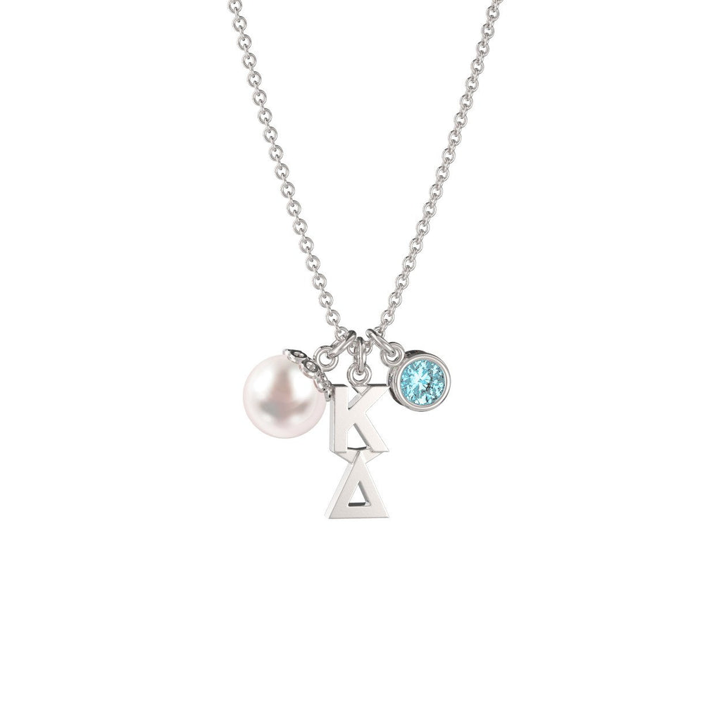 Kappa Delta Triple Charm Necklace