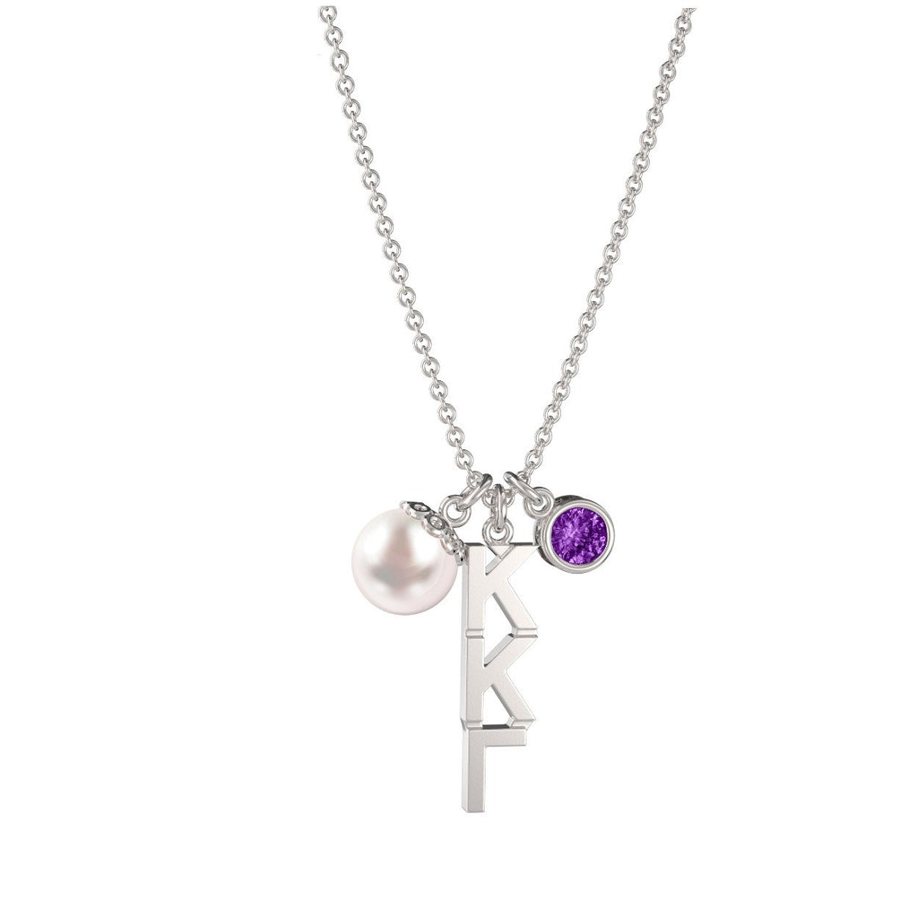 Kappa Kappa Gamma Triple Charm Necklace