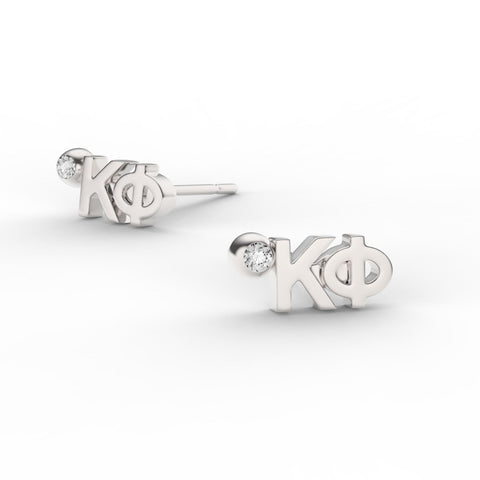 Kappa Phi Letter Studs With Stone