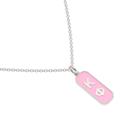 Kappa Phi Enameled Mini Tag Necklace