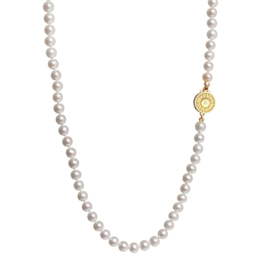 Phi Mu Pearl Necklace